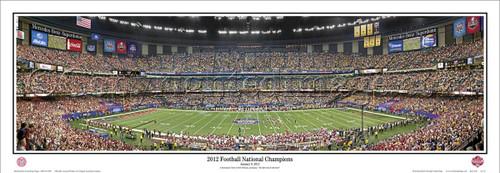 "Alabama Crimson Tide ""2012 Football National Champions"" Panoramic Poster"