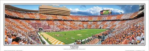 """Tennessee Volunteers """"5 Yard Line"""" Neyland Stadium Panoramic Poster"""