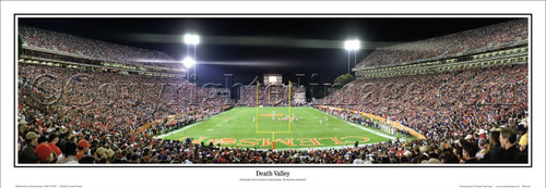 "Clemson Tigers ""Death Valley"" Memorial Stadium Panoramic Poster"