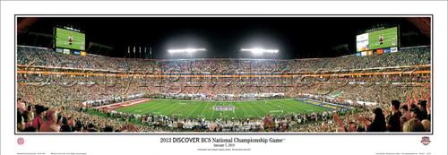 "Alabama Crimson Tide ""2013 BCS National Championship Game"" Panoramic Poster"
