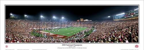 "Alabama Crimson Tide ""2009 National Champions"" Panoramic Poster"