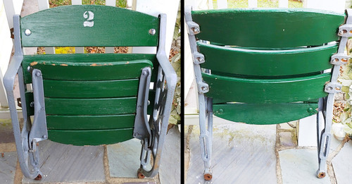 "Polo Grounds ""NY Figural End Seat - New York Giants"