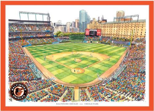 Camden Yards - Baltimore Orioles Art Print
