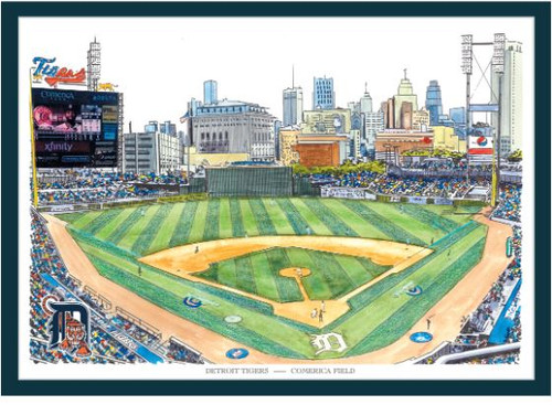 Comerica Park - Detroit Tigers Art Print