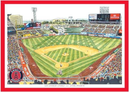 Angel Stadium - Los Angeles Angels Art Print