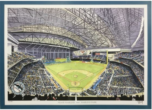Marlins Park - Miami Marlins Art Print