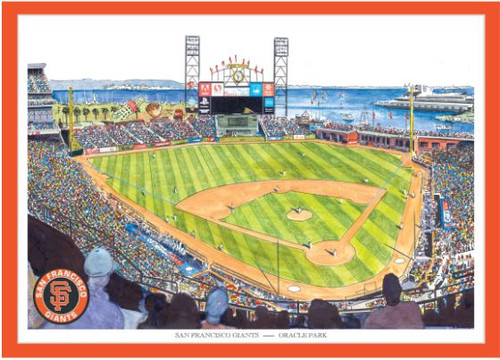 Oracle Park - San Francisco Giants Art Print