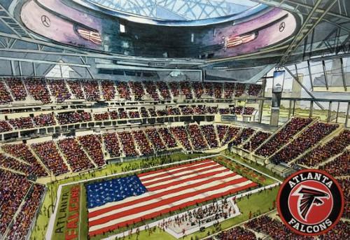 Mercedes-Benz Stadium - Atlanta Falcons  Art Print