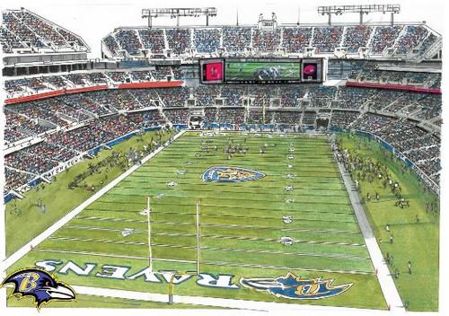 M&T Bank Stadium - Baltimore Ravens  Art Print