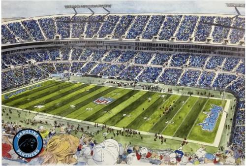 Bank of America Stadium - Carolina Panthers  Art Print