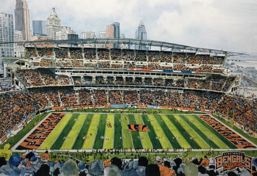 Paul Brown Stadium - Cincinnati Bengals  Art Print