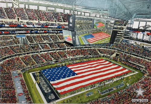 AT&T Stadium - Dallas Cowboys  Art Print