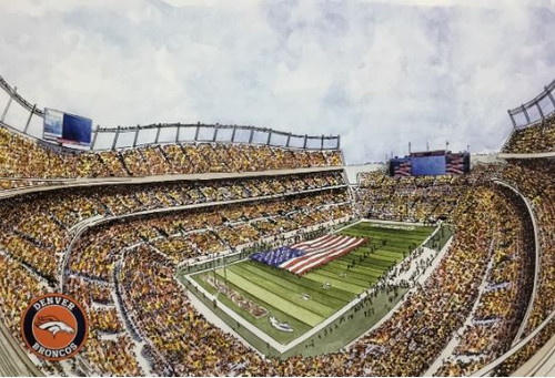 Empower Field at Mile High Stadium - Denver Broncos  Art Print
