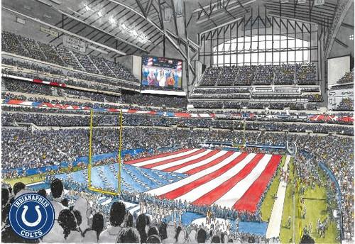 Lucas Oil Stadium - Indianapolis Colts  Art Print