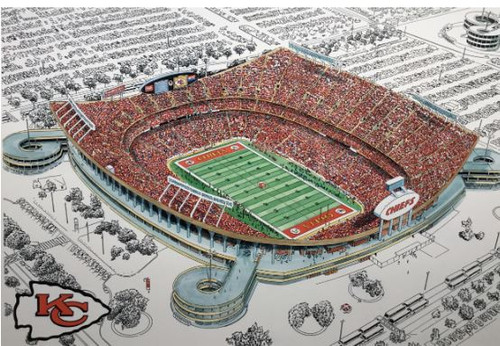 Arrowhead Stadium - Kansas City Chiefs  Art Print