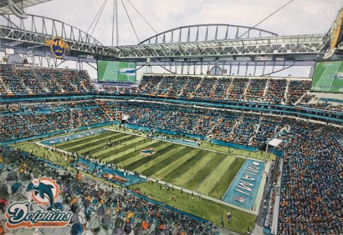 Hard Rock Stadium - Miami Dolphins Art Print