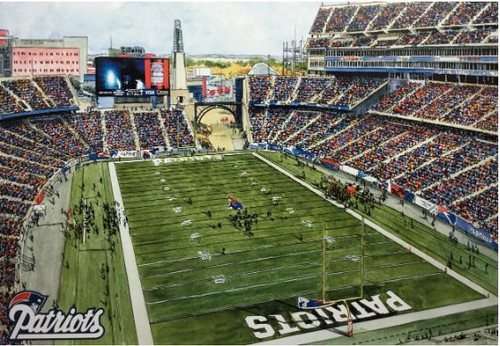 Gillette Stadium - New England Patriots Art Print