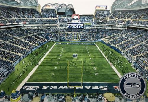 CenturyLink Field - Seattle Seahawks Art Print
