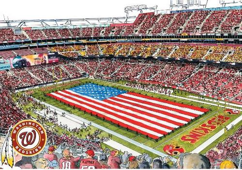 FedEx Field - Washington Redskins Art Print
