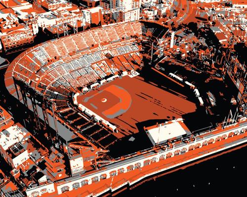 Oracle Park - San Francisco Giants Aerial Canvas Print