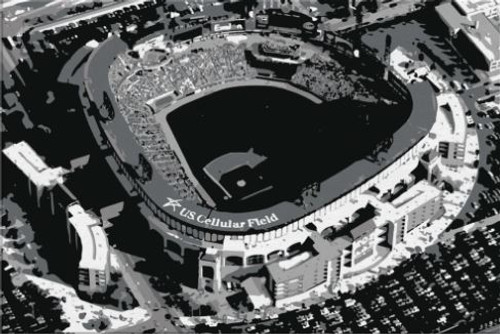 Guaranteed Rate Field - Chicago White Sox Aerial Canvas Print