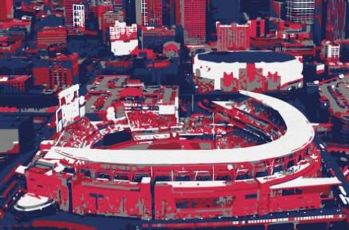 Target Field - Minnesota Twins Aerial Canvas Print