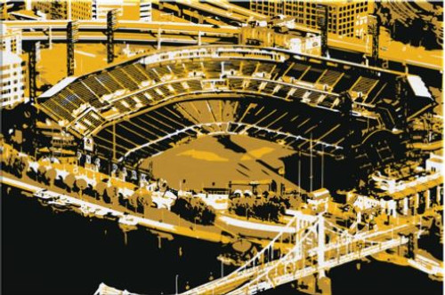 PNC Park - Pittsburgh Pirates Aerial Canvas Print