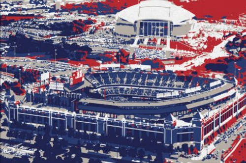 Globe Life Park - Texas Rangers Aerial Canvas Print