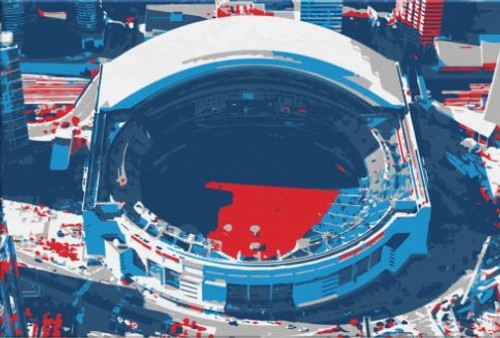 Rogers Center - Toronto Blue Jays Aerial Canvas Print