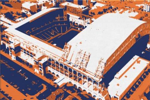 Minute Maid Park - Houston Astros Aerial Canvas Print