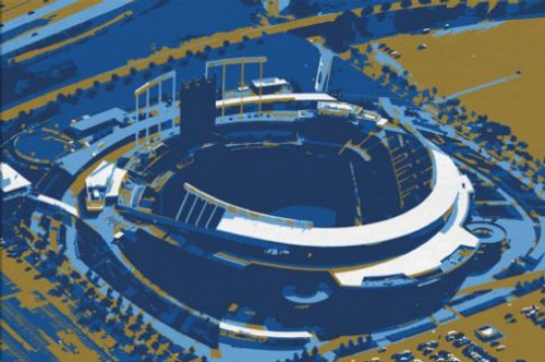 Kauffman Stadium - Kansas Aerial Canvas Royals Aerial Canvas Print