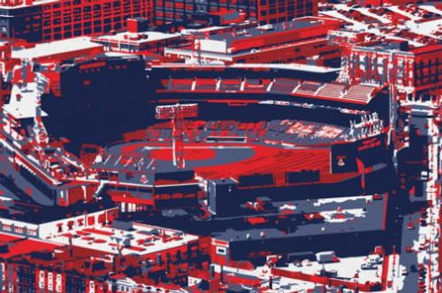 Fenway Park - Boston Red Sox Aerial Canvas Print