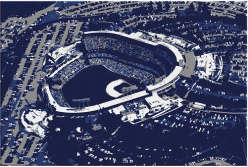 Dodger Stadium - Los Angeles Dodgers Aerial Canvas Print