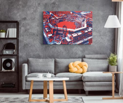 Citizens Bank Park - Philadelphia Phillies Aerial Canvas Print