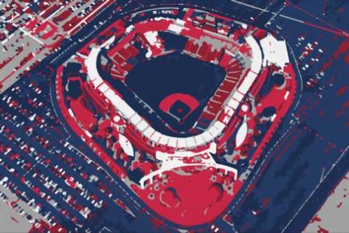 Angel Stadium - Los Angeles Angels Aerial Canvas Print