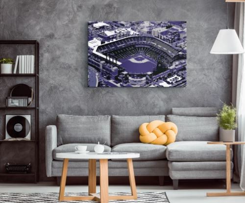 Coors Field - Colorado Rockies Aerial Canvas Print