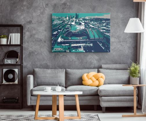 T-Mobile Park - Seattle Mariners Aerial Canvas Print