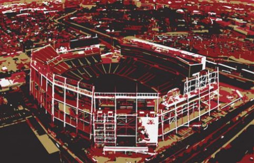 Levi's Stadium - San Francisco 49ers Aerial Canvas Print