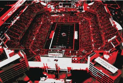 Raymond James Stadium - Tampa Bay Buccaneers Aerial Canvas Print