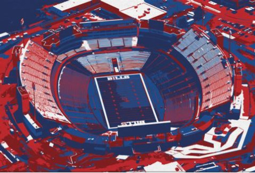 Bills Stadium - Buffalo Bills Aerial Canvas Print