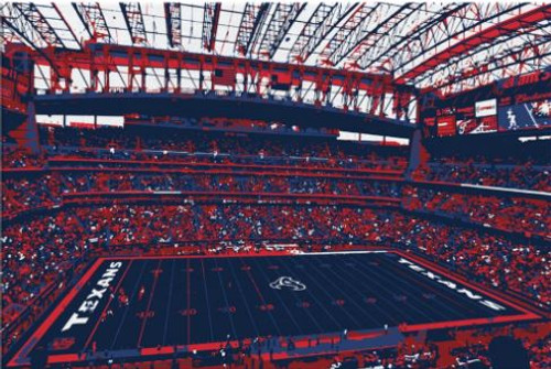 NRG Stadium - Houston Texans Canvas Print