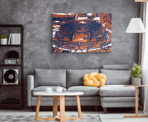 Empower Field - Denver Broncos Aerial Canvas Print