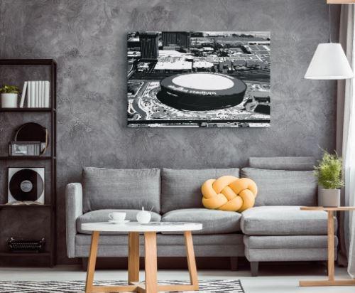 Allegiant Stadium - Las Vegas Raiders Aerial Canvas Print