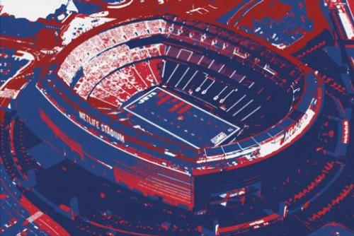 MetLife Stadium - New York Giants Aerial Canvas Print