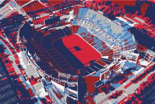 Nissan Stadium - Tennessee Titans Aerial Canvas Print