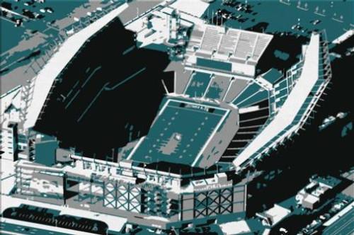 Lincoln Financial Field - Philadelphia Eagles Aerial Canvas Print