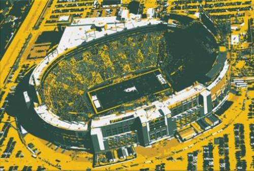 Lambeau Field - Green Bay Packers Aerial Canvas Print