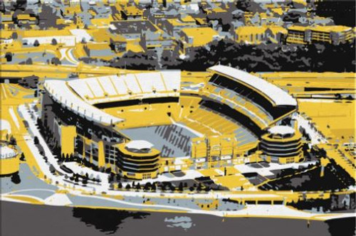 Heinz Field - Pittsburgh Steelers Aerial Canvas Print
