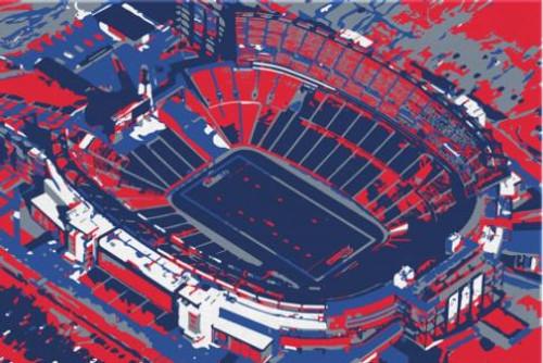 Gillette Stadium - New England Patriots Aerial Canvas Print
