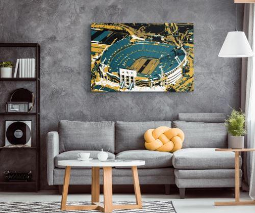 TIAA Bank Field - Jacksonville Jaguars Aerial Canvas Print